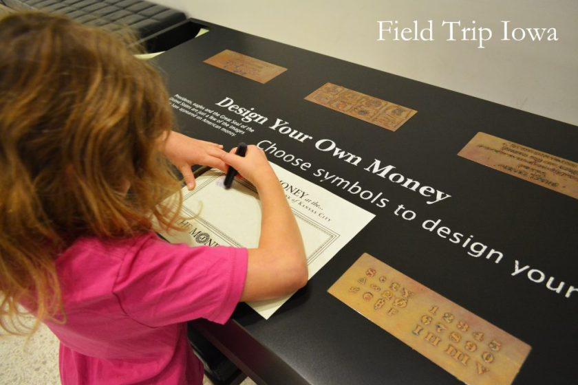 Your children can design their own money in the Money Museum in Kansas City.