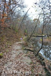 Narrow path along the stream at Wallace State Park is fun and beaitiful! Only minutes off I35 in MO.