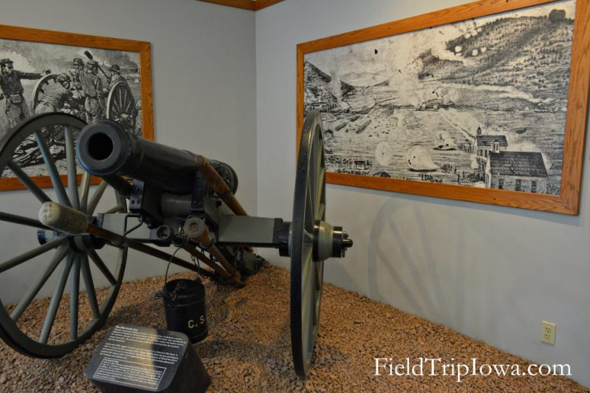 Canon inside museum at Arcadia Valley Inronton Missouri