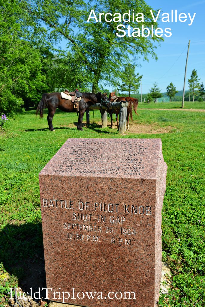 Civil War Monument at Arcadia Valley Stables by Plain & Fancy BB.