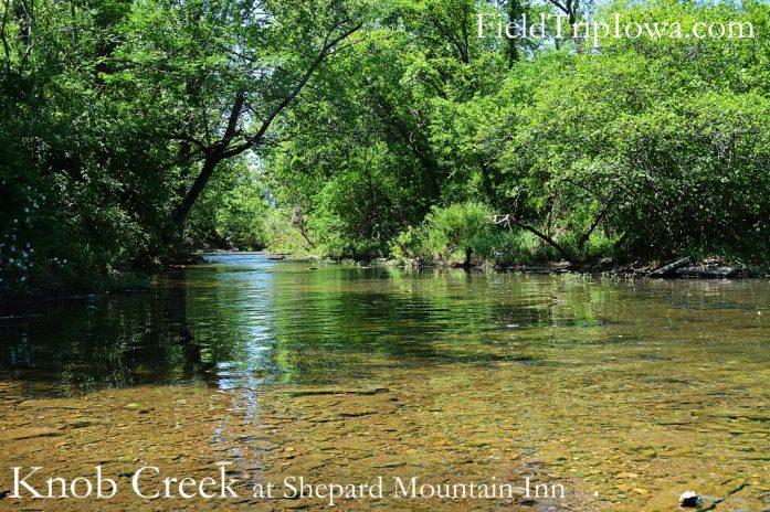Beautiful sunny spring day at Knob Creek at Shepherd Mountain Inn in Ironton MO.