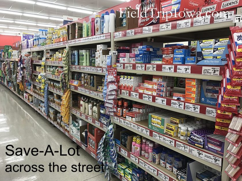 Inside the Save-A-Lot grocery store across from Shepherd Mountain Inn in Ironton MO.