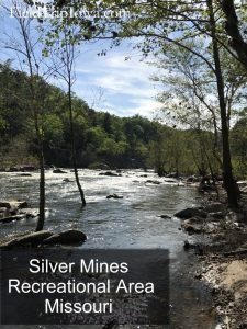 Creek with rocks at Silver Mines recreational area in MO - Family Guide to Arcadia Valley Missouri