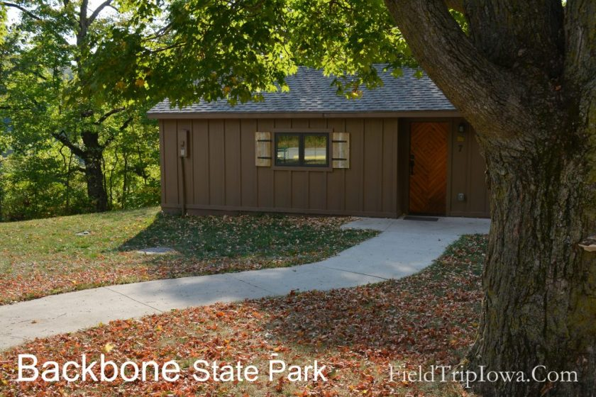 Rental Cabin at Backbone State Park to enjoy on an Eastern Iowa Family Road Trip