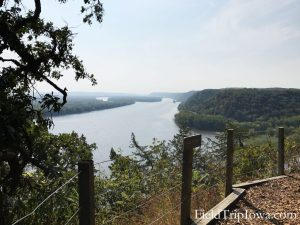 Fire Point overlook at Effigy Mounds National Monument Iowa
