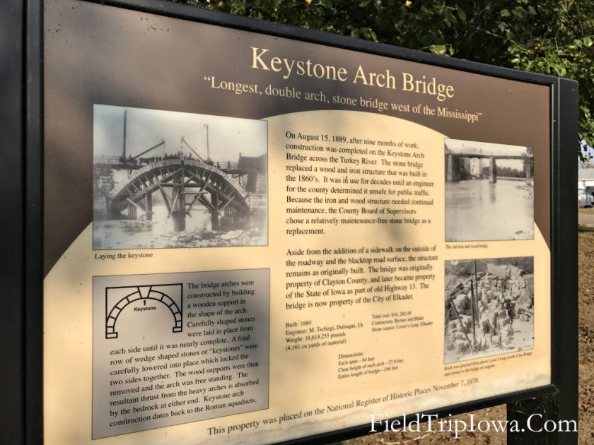 Sing about Keystone Bridge in Elkader Iowa