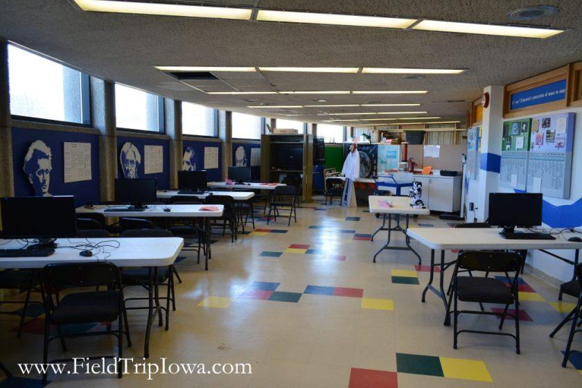 Classroom space in Bluedorn Science Imaginarium in Waterloo Iowa.
