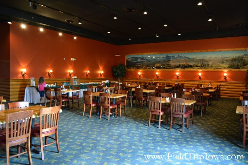 Inside restaurant at Grizzly Jack's Grand Bear Resort and Indoor Waterpark in Utica, IL