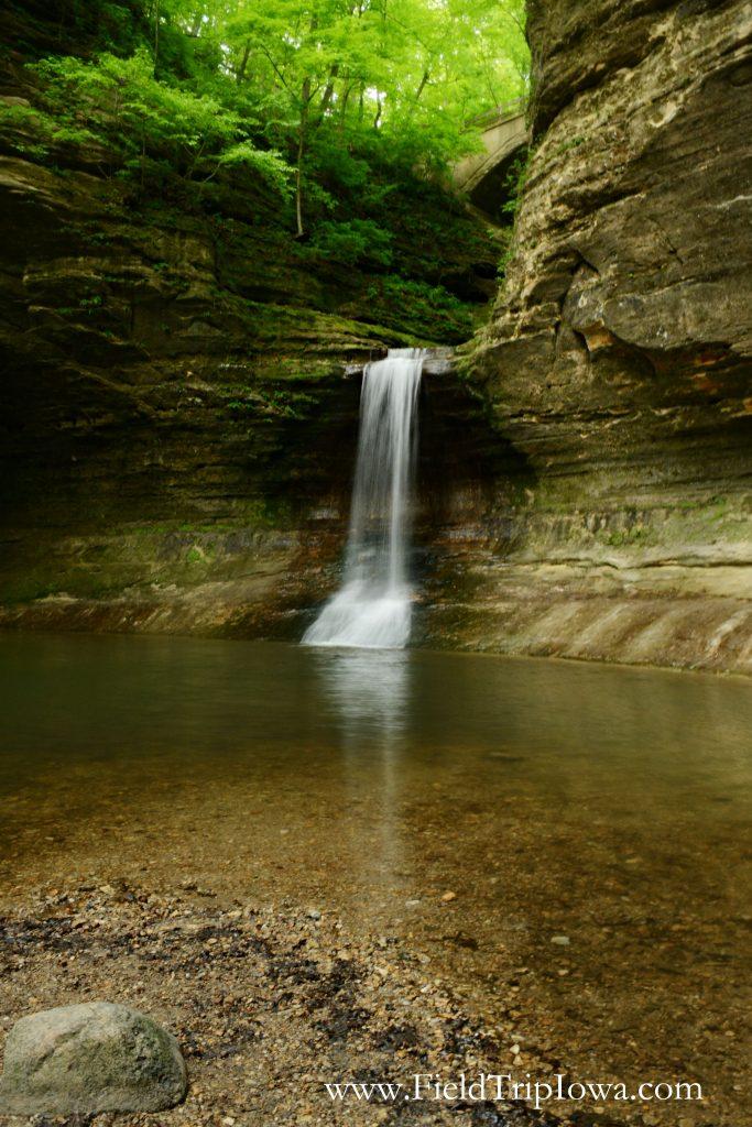 Cascade Falls in Matthiessen State Park, IL
