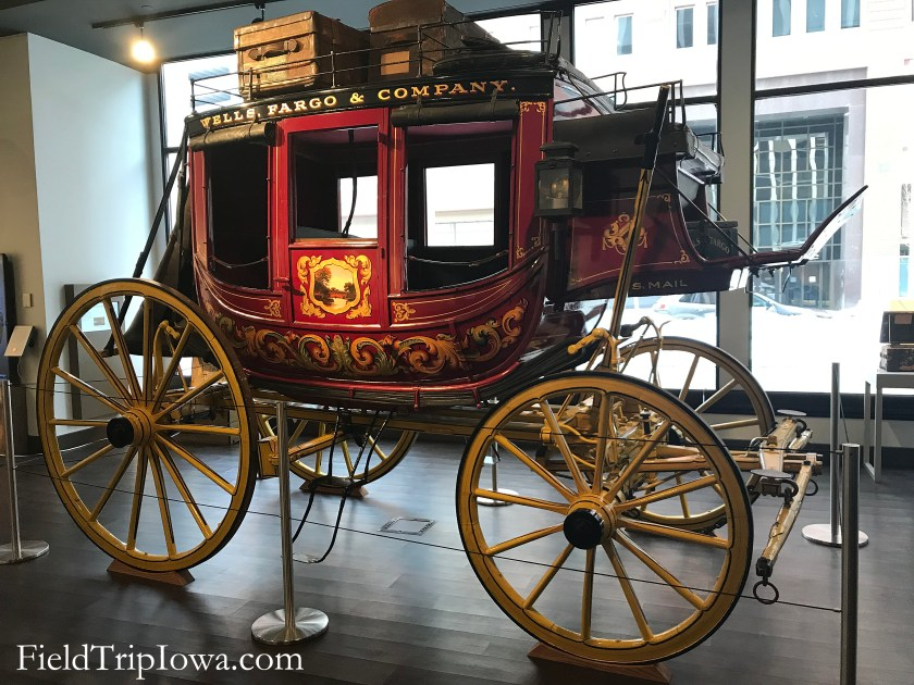 Stage Coach at Wells Fargo History Museum Des Moines Iowa.
