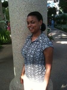 BEFORE: Sheryl Huggins Salomon as a pre-diabetic size 12.