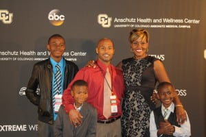Charita Smith with her husband, Marc, and their three sons. (Photo: Smith family)