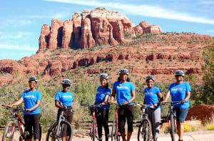 Sometimes GirlTrekkers ride, too, like this group in Sedona, Ariz. (Photo: GirlTrek)