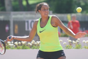 """""""I love representing the USA,"""" Madison Keys, the youngest member of the Olympic tennis team, said in a QC Online interview. """"I want to make the country proud."""" (Photo: Tabercil/Creative Commons)"""