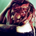 misty red natural dreads