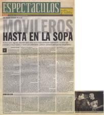 Movileros hasta en la Sopa - Clarín - 23/5/98