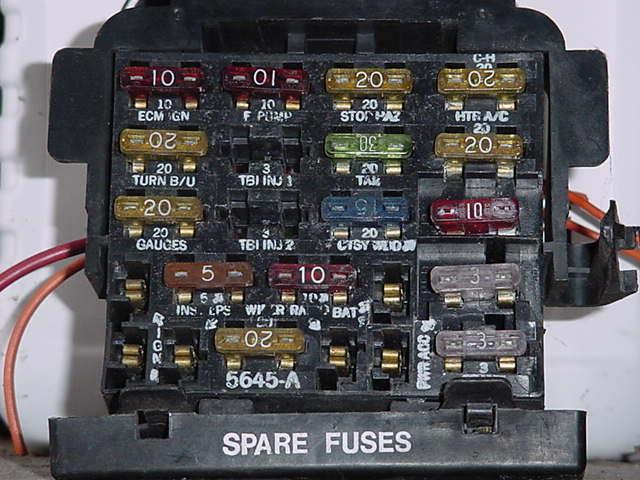 1986 Pontiac Fiero Fuse Box Diagram