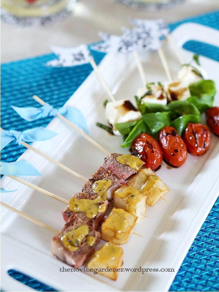 appetizers on skewers