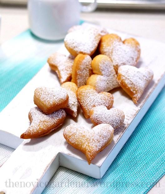 Fat Tuesday heart-shaped beignets