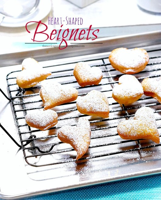 heart shaped beignets