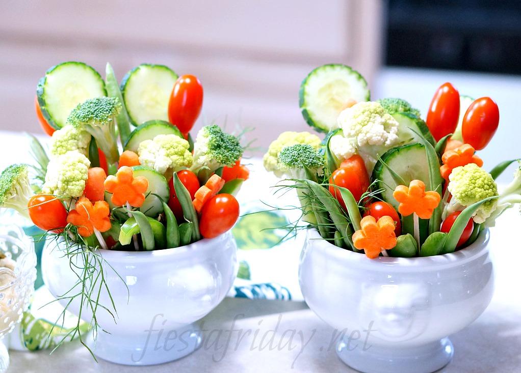 spring crudite bouquets