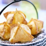 chicken cordon bleu fried wontons