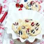 red white and blue scones