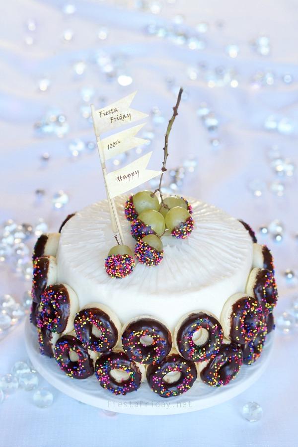 Donut Anniversary Cake | fiestafriday.net