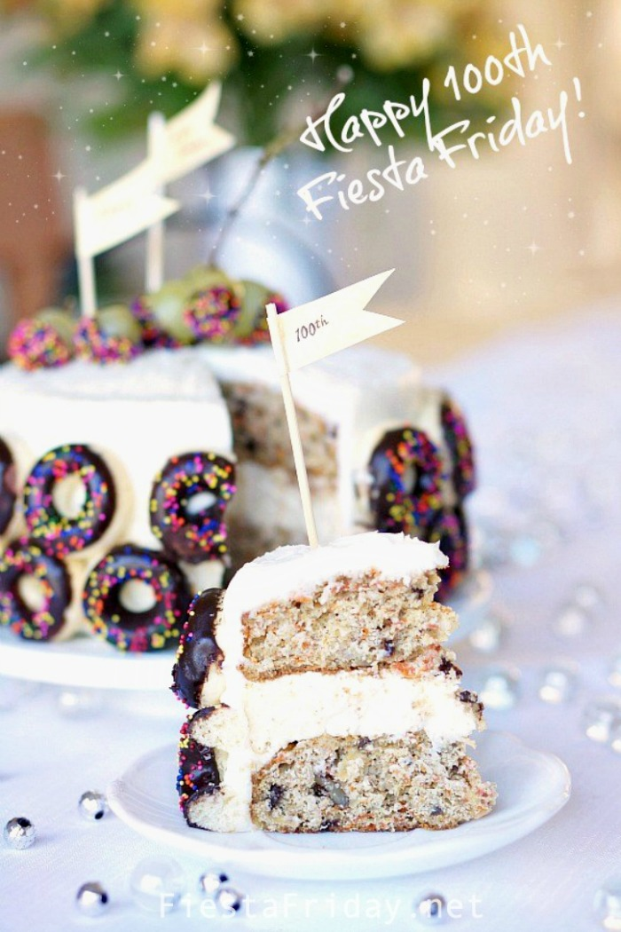 Carrot Coconut Cheesecake Cake | FiestaFriday.net
