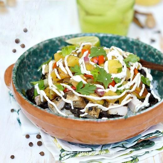 caribbean burrito bowl
