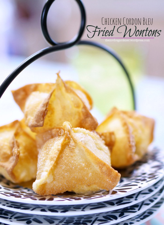 Chicken Cordon Bleu Wontons