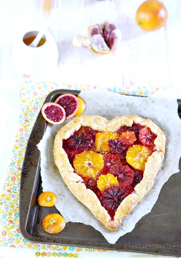 Valentine's Day Orange Tart | FiestaFriday.net