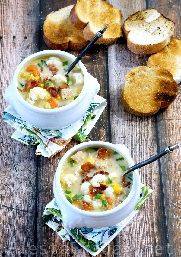 cauliflower chowder | fiestafriday.net