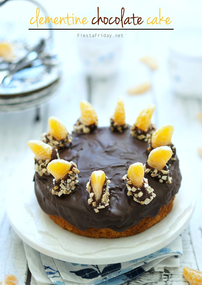 clementine chocolate cake   fiestafriday.net
