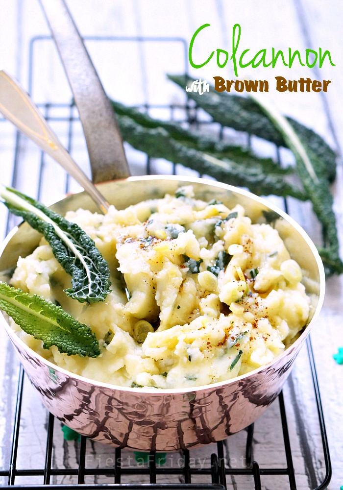 colcannon with brown butter | fiestafriday.net