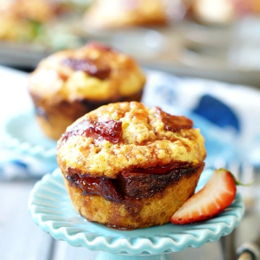 roasted strawberry muffin