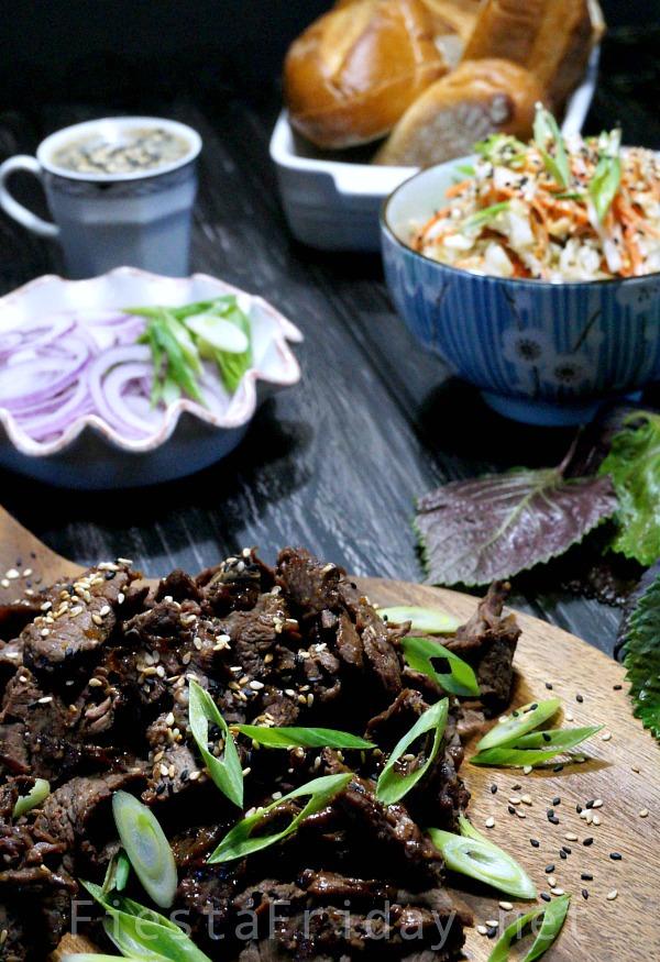sesame steak and slaw