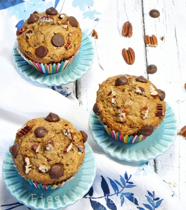 chocolate-espresso-banana-nut-muffins | fiestafriday.net