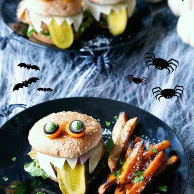 Halloween Monster Burgers