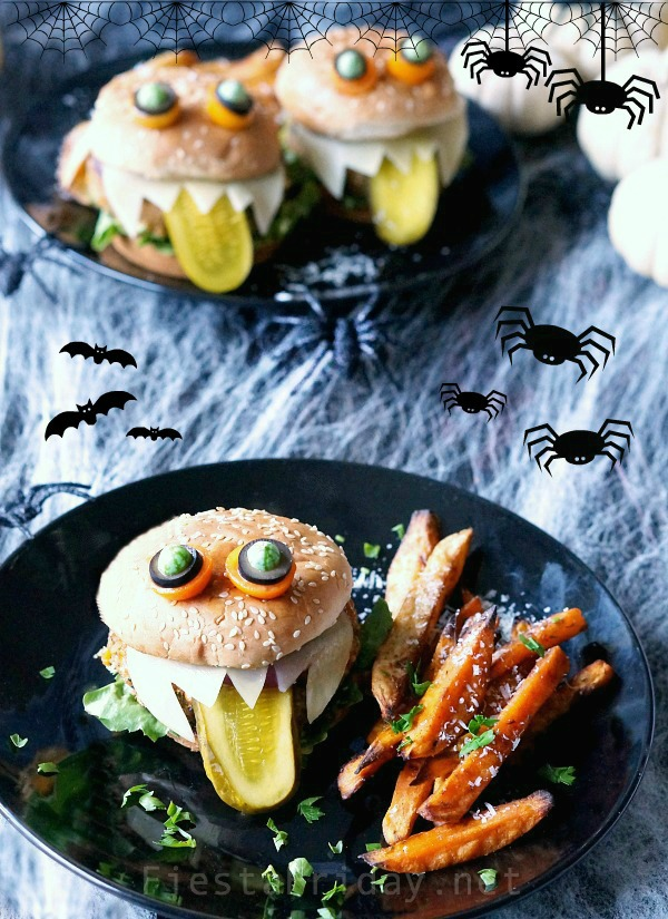 halloween-monster-burgers | fiestafriday.net