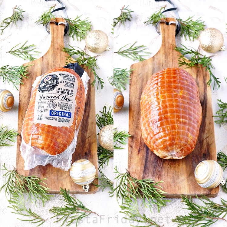 Holiday ham, made special with a uniquely tantalizing glaze of sweet soy sauce and chili paste that will elevate your traditional holiday dinner into a world-class experience! #ham #holidaydinner #Christmas #glazedham #sweetsoysauce #chilipaste