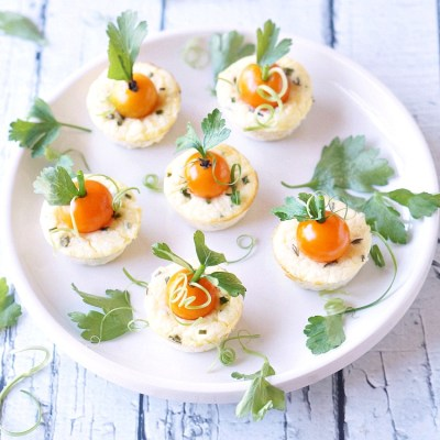 Thanksgiving Mini Savory Cheesecake Appetizer