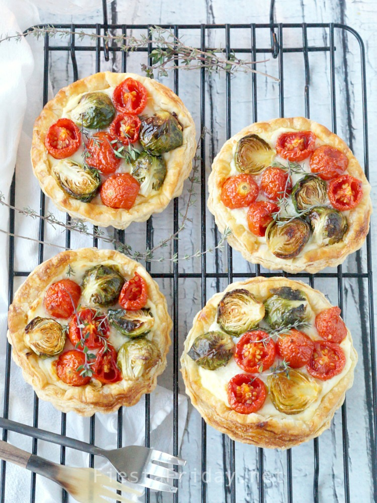 Brussels Sprouts Cherry Tomato Tart