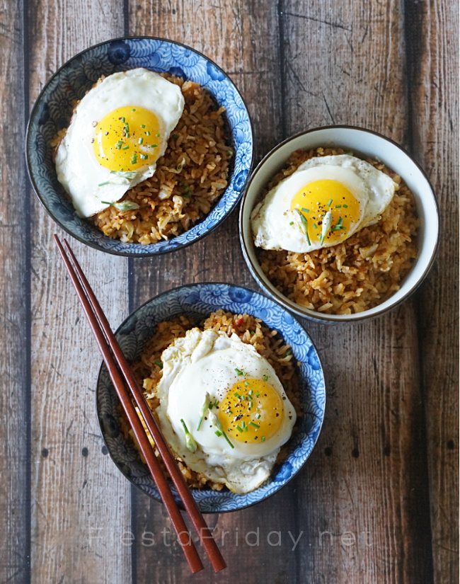 Fried Rice with Fried Egg | FiestaFriday.net