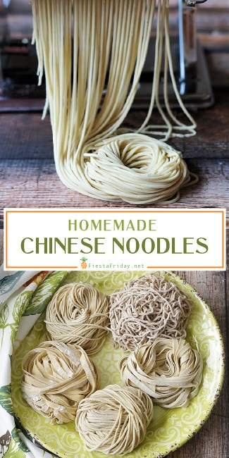 Homemade Chinese Noodles are not as difficult to make as you'd think, and are definitely well worth the effort. Check out the easy step-by-step instructions.