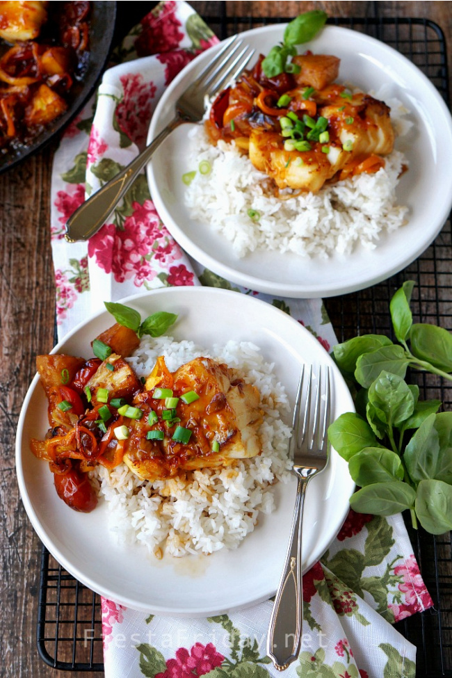 Vietnamese Claypot Fish | FiestaFriday.net