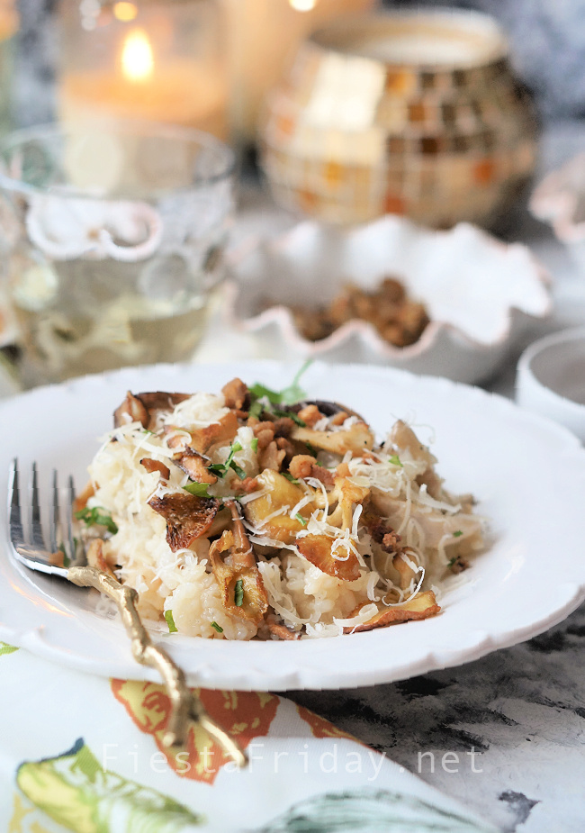 Mushroom Risotto with Pork Cracklings