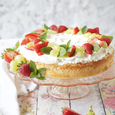 Tres Leches Cake with Fresh Fruits