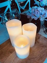 Set of 3 LED Faux Candles