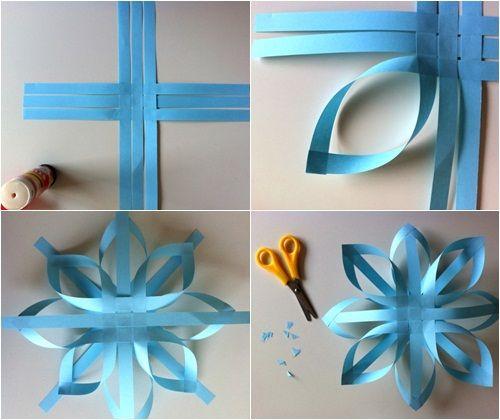 adornos de navidad estrellas de papel fáciles 1 Adornos de Navidad: estrellas de papel fáciles